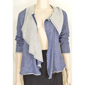 Sugarfly Jackets & Coats - Sugarfly jacket sz L blue gray moto style zipper 1